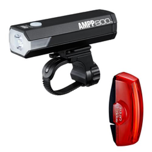 Cateye Ampp 800 + Rapid X2 Light Set