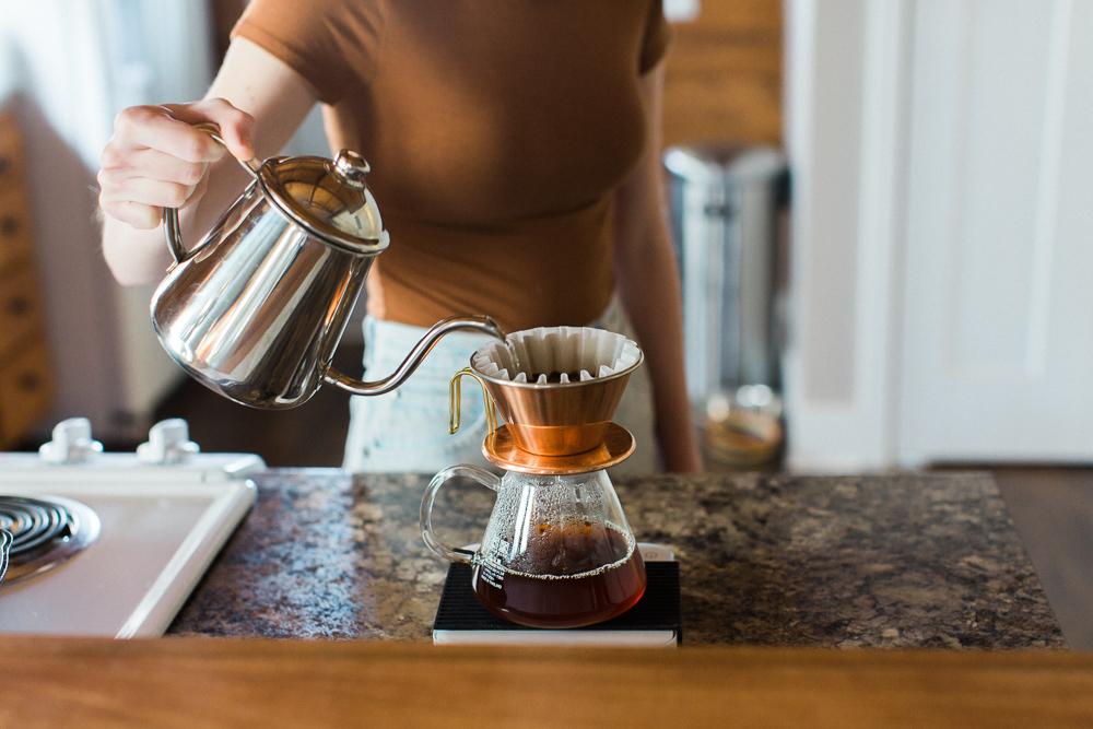 Manual brewing coffee at home
