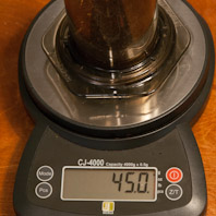 45 grams of coffee in an Aeropress