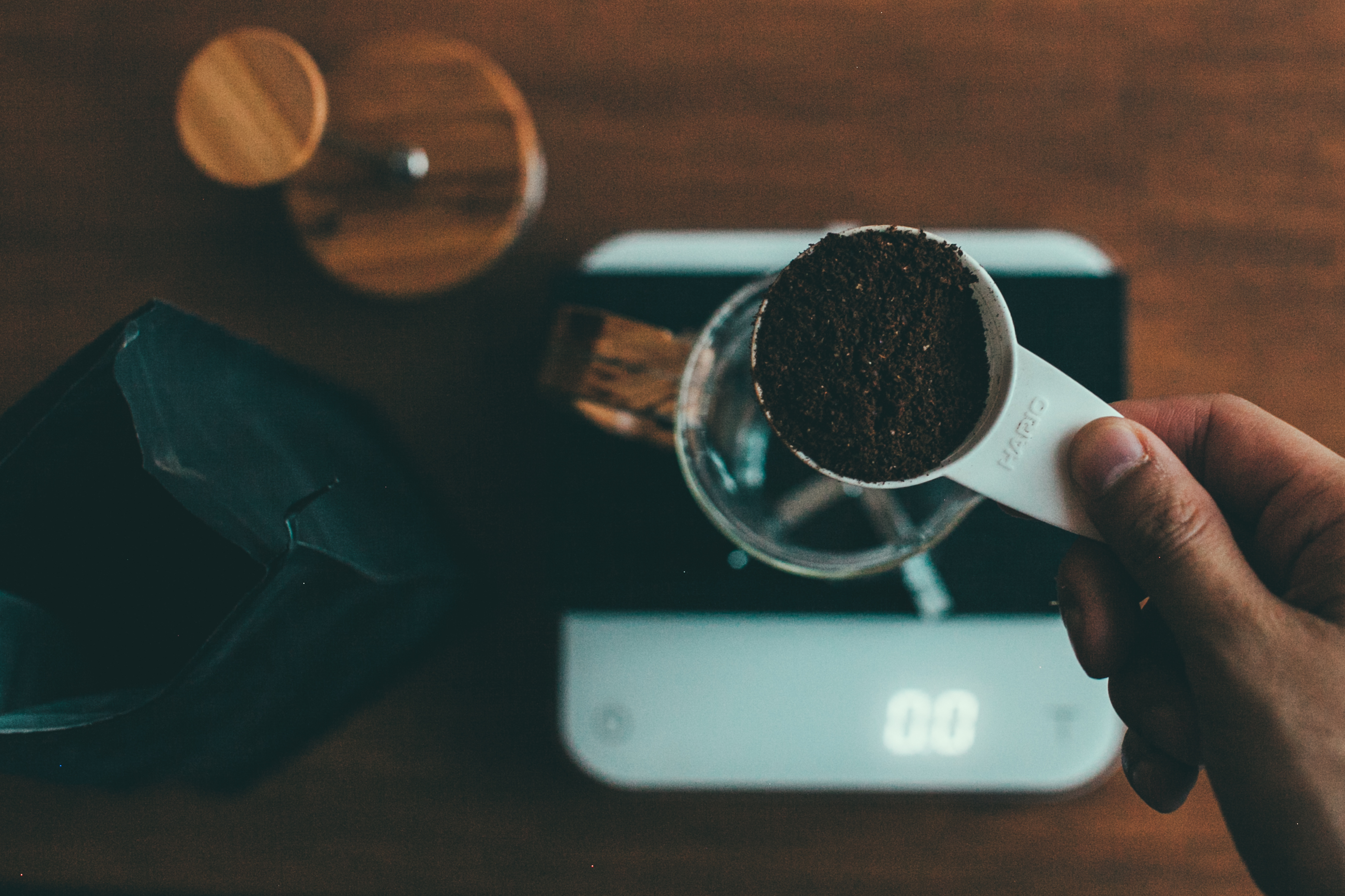 Brewing with a french press and Acaia scale