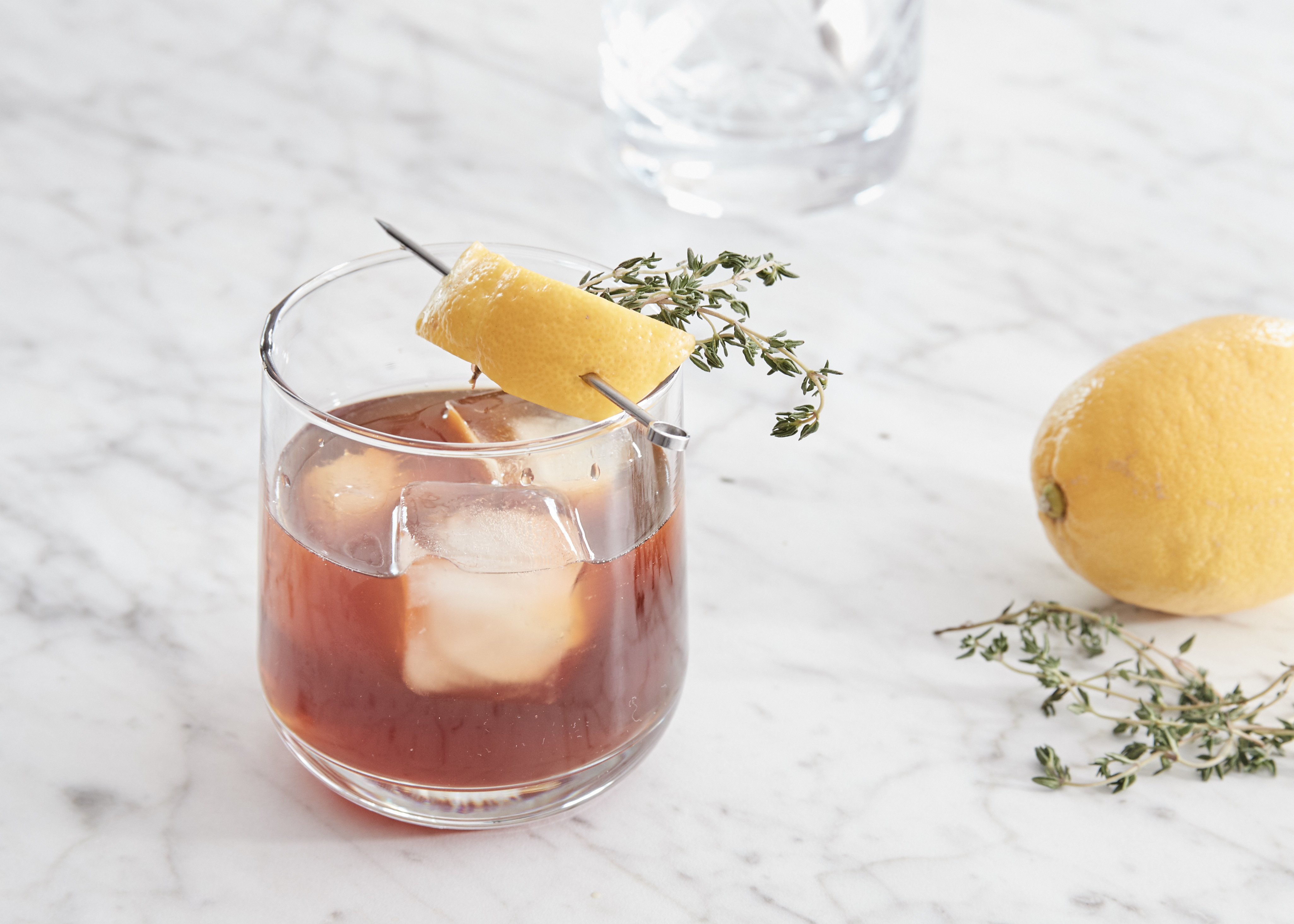 Apricot Latte Milk Punch with Lemon and Thyme