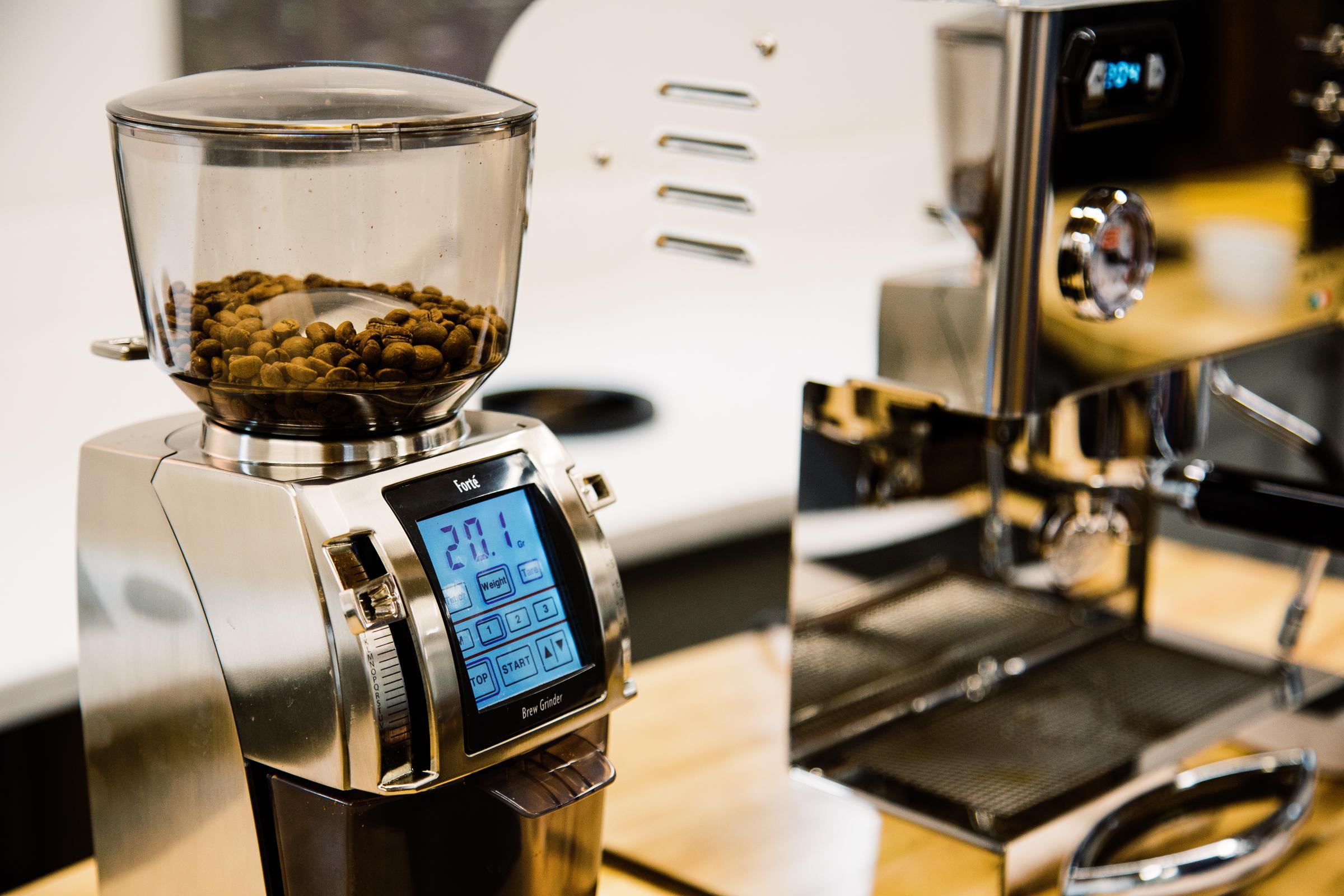 Baratza Forte with home espresso machine