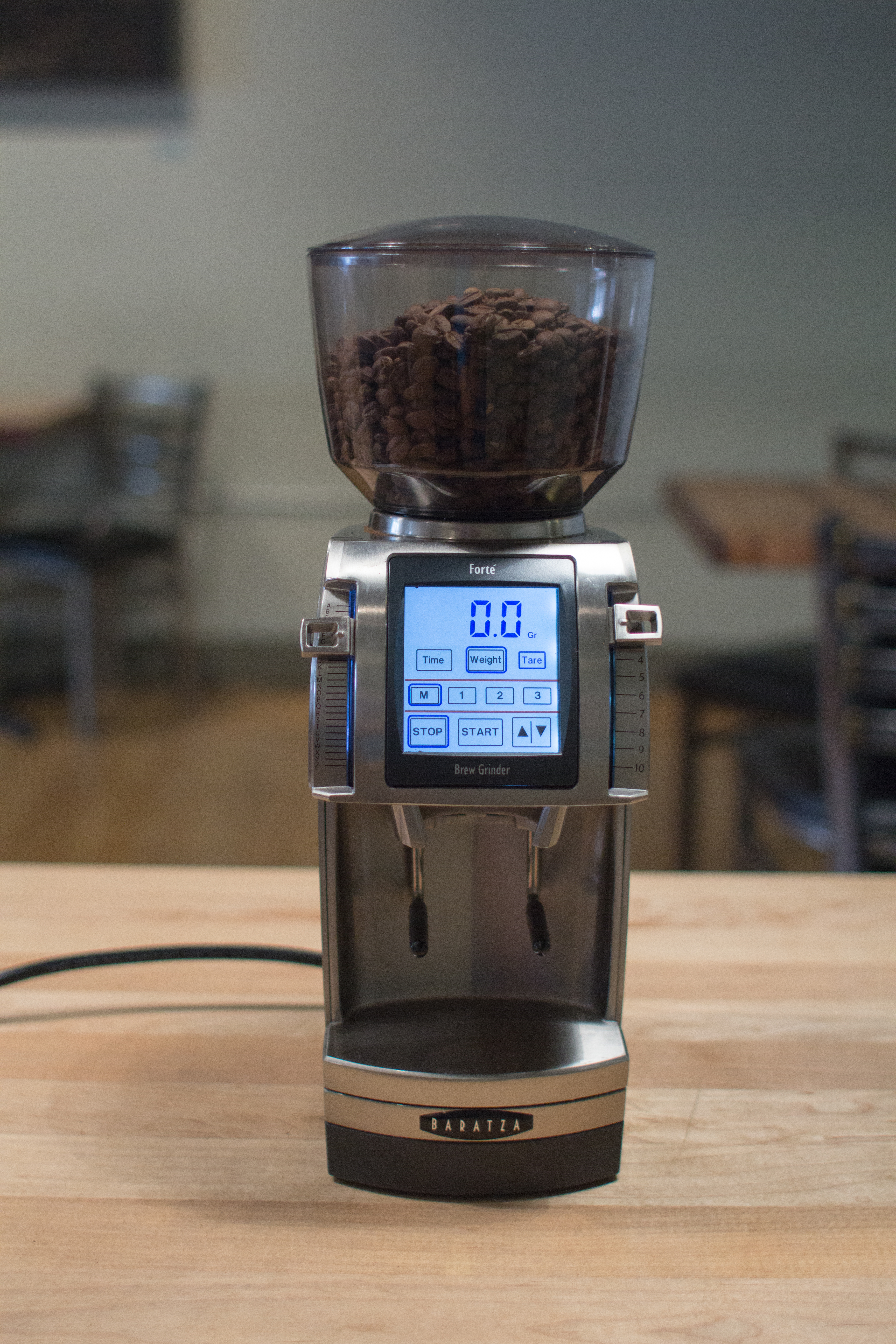 The Baratza Forte is a commercial-quality burr grinder that will exceed your expectations for coffee at home