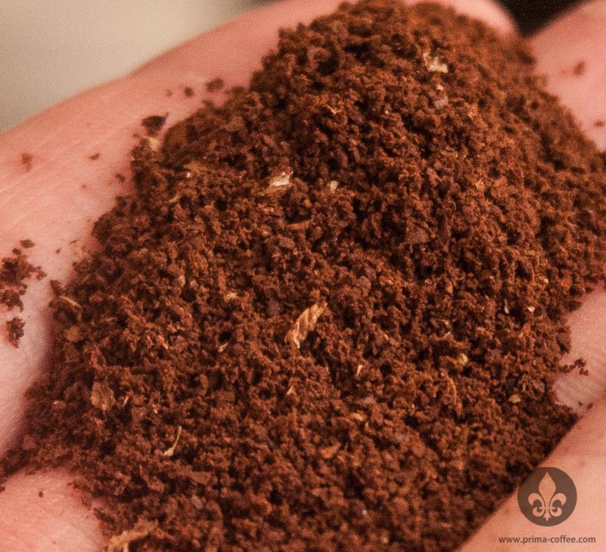 Finely ground coffee for Aeropress