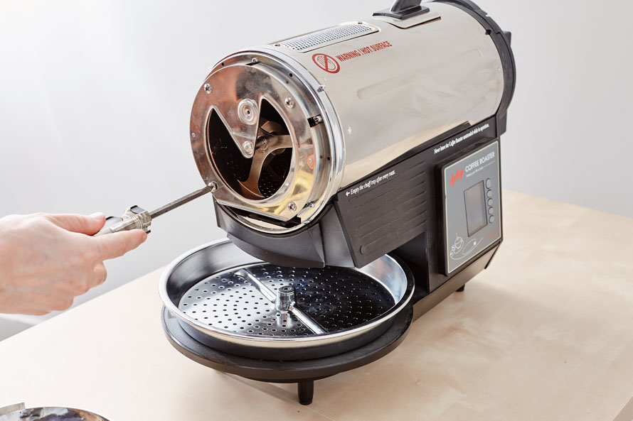 Removing the bearing plate on a Hottop Roaster