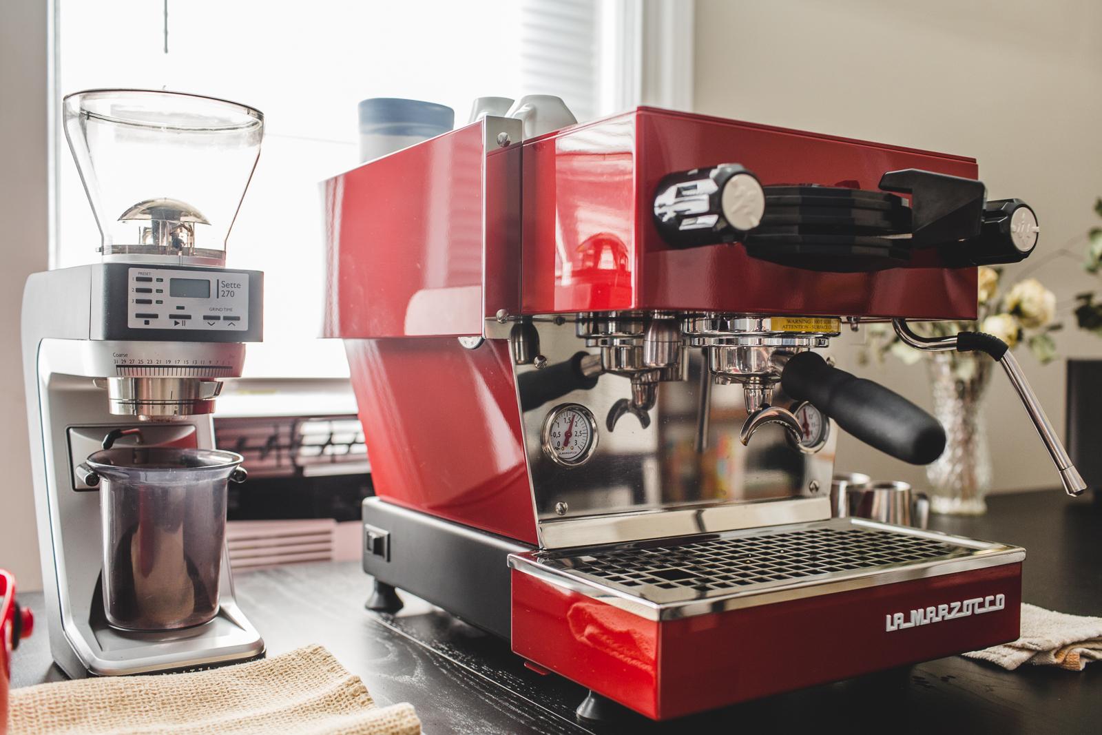 Linea Mini espresso machine at home