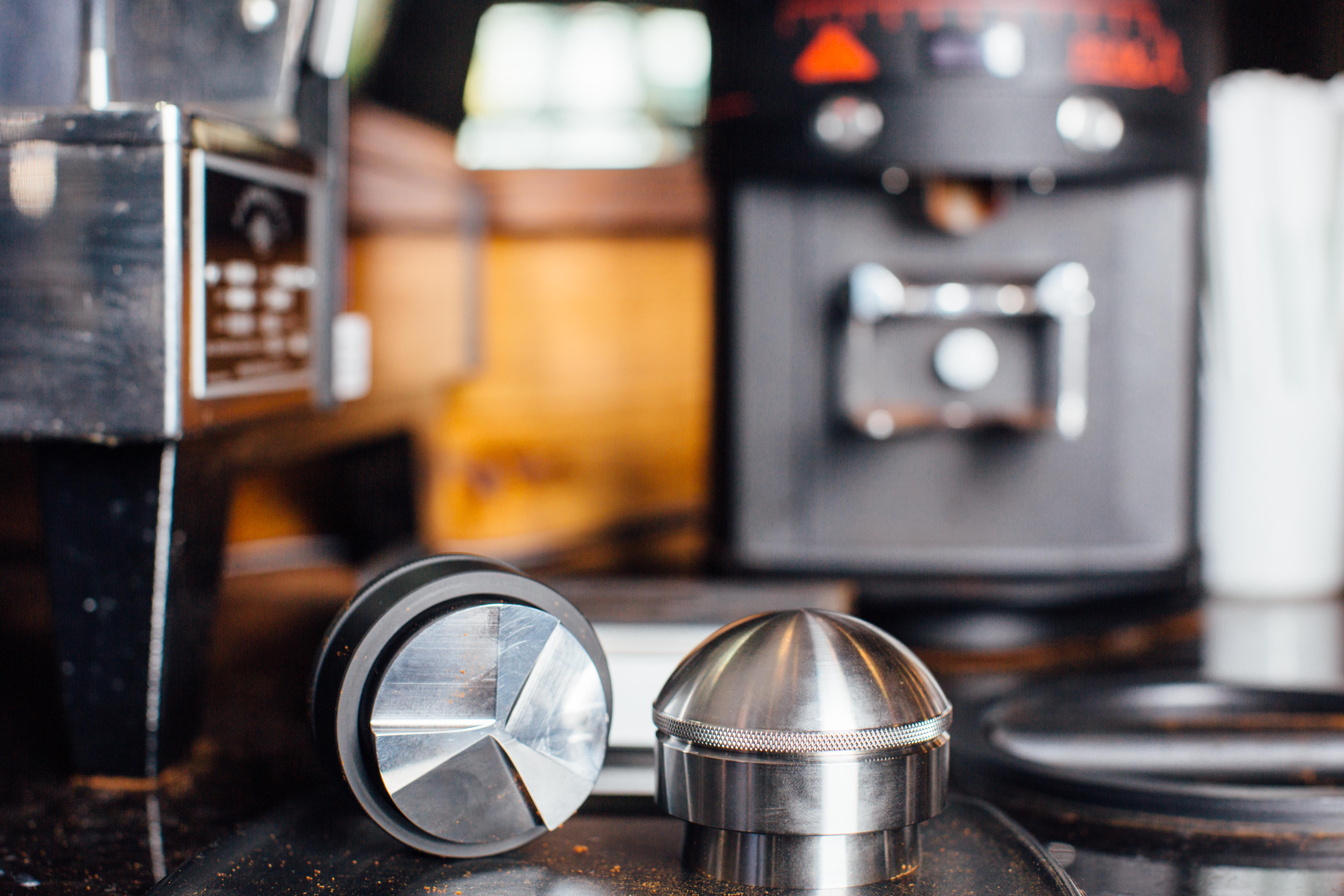 Mahlgut's puck-style tamping tools fit neatly into your bar flow and help improve your shot consistency