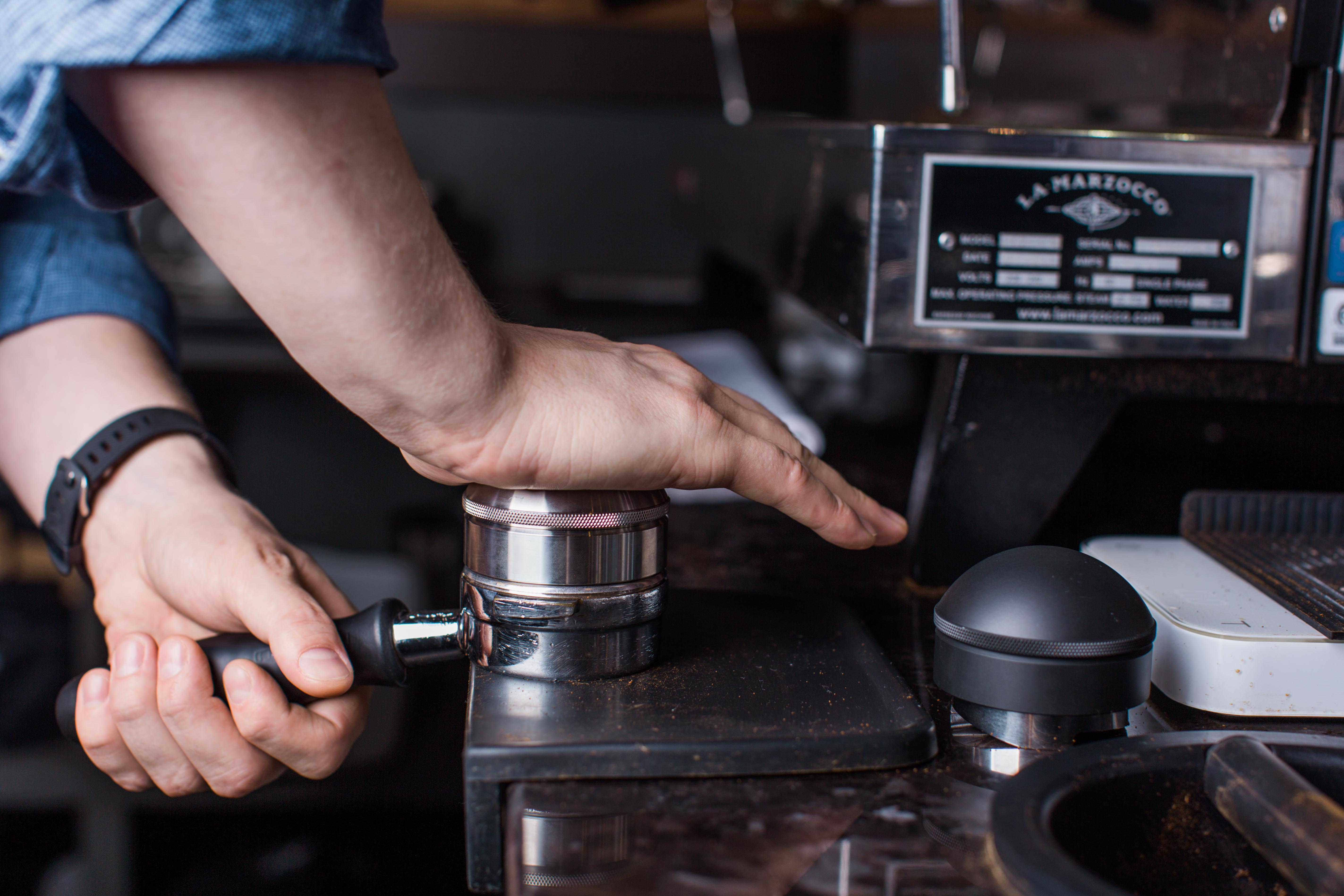 Tamping with the Buzzer to a precise and repeatable depth is easy for any barista you have on bar