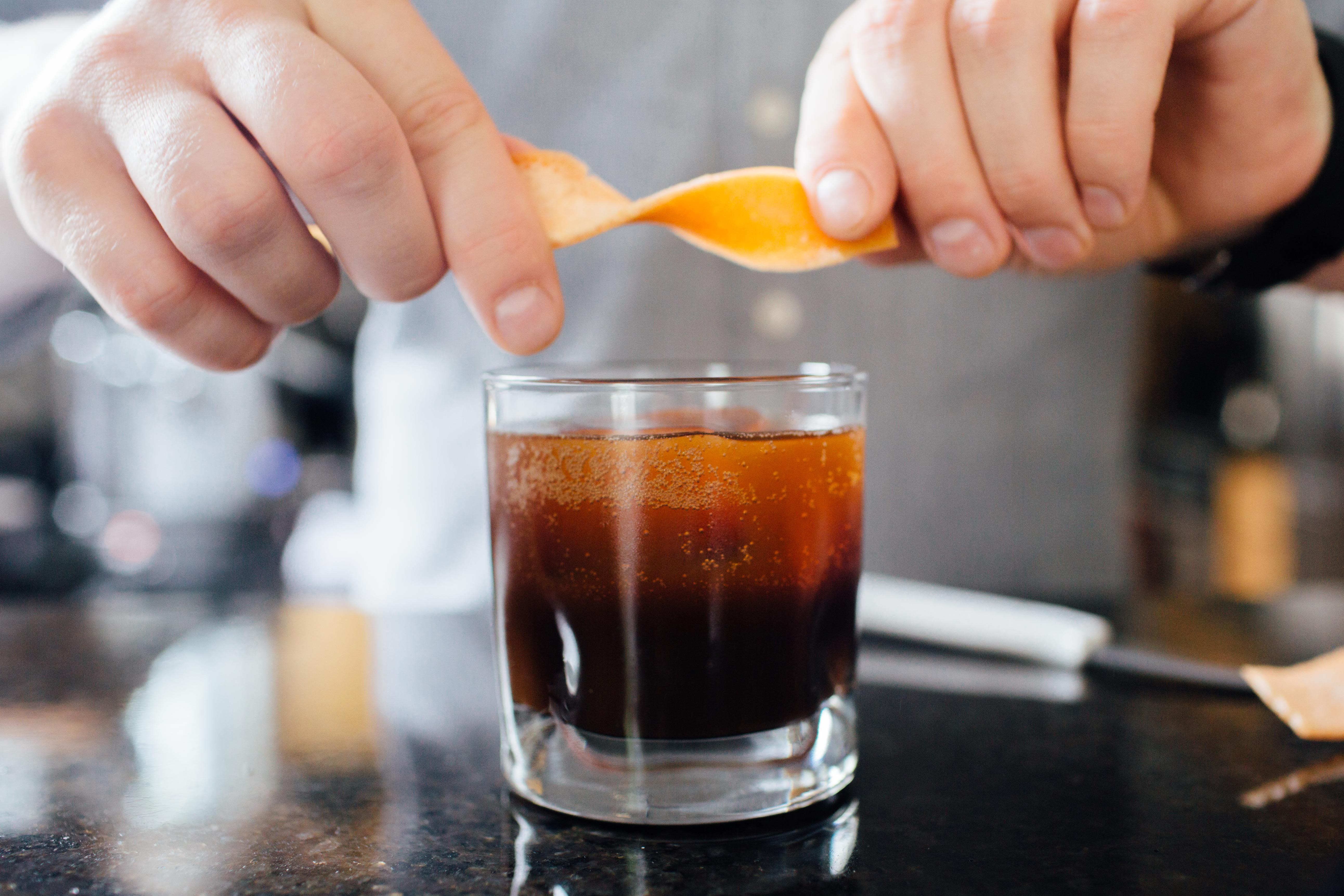 Espresso and Averna iced coffee cocktail