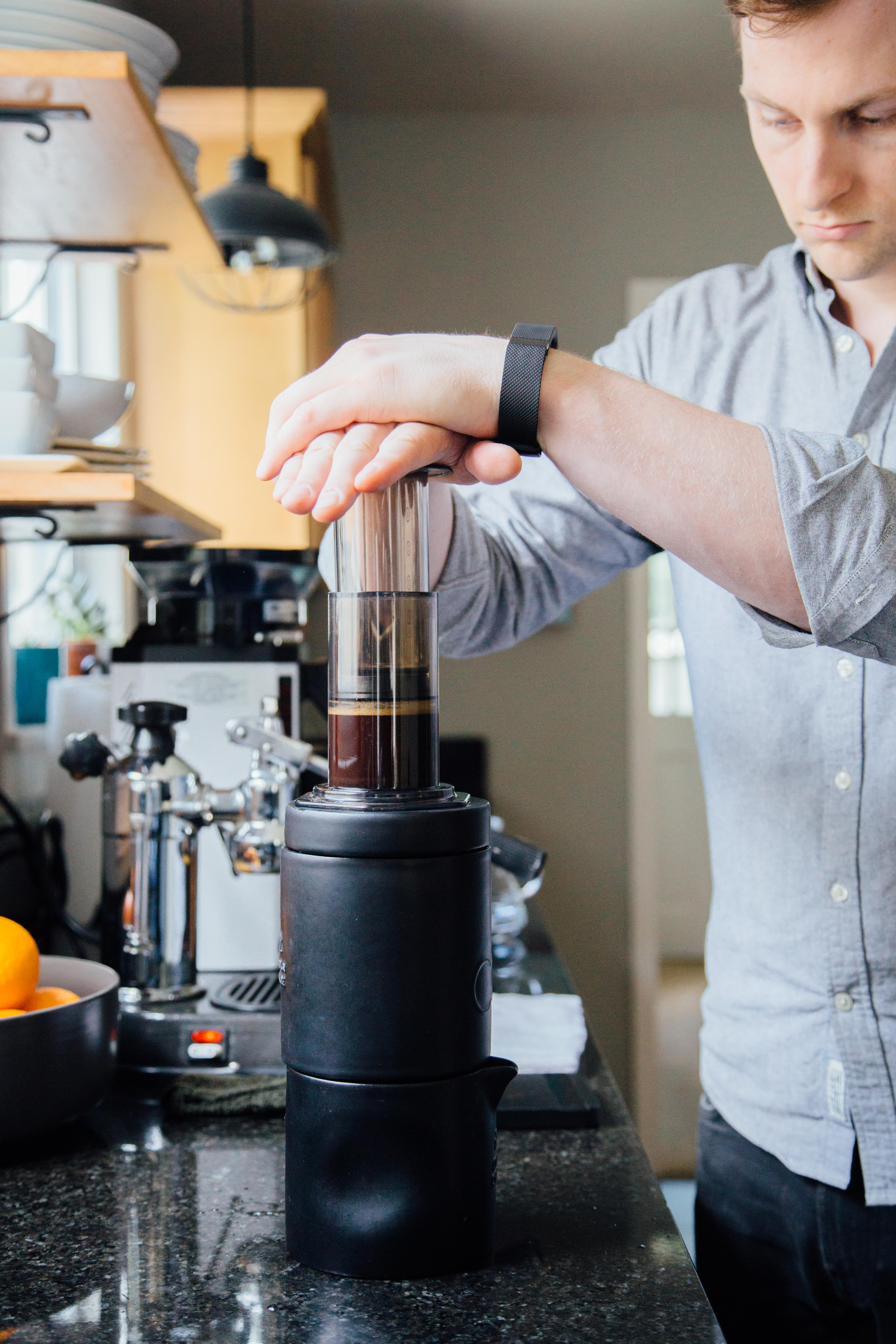Coil coffee chiller and Aeropress