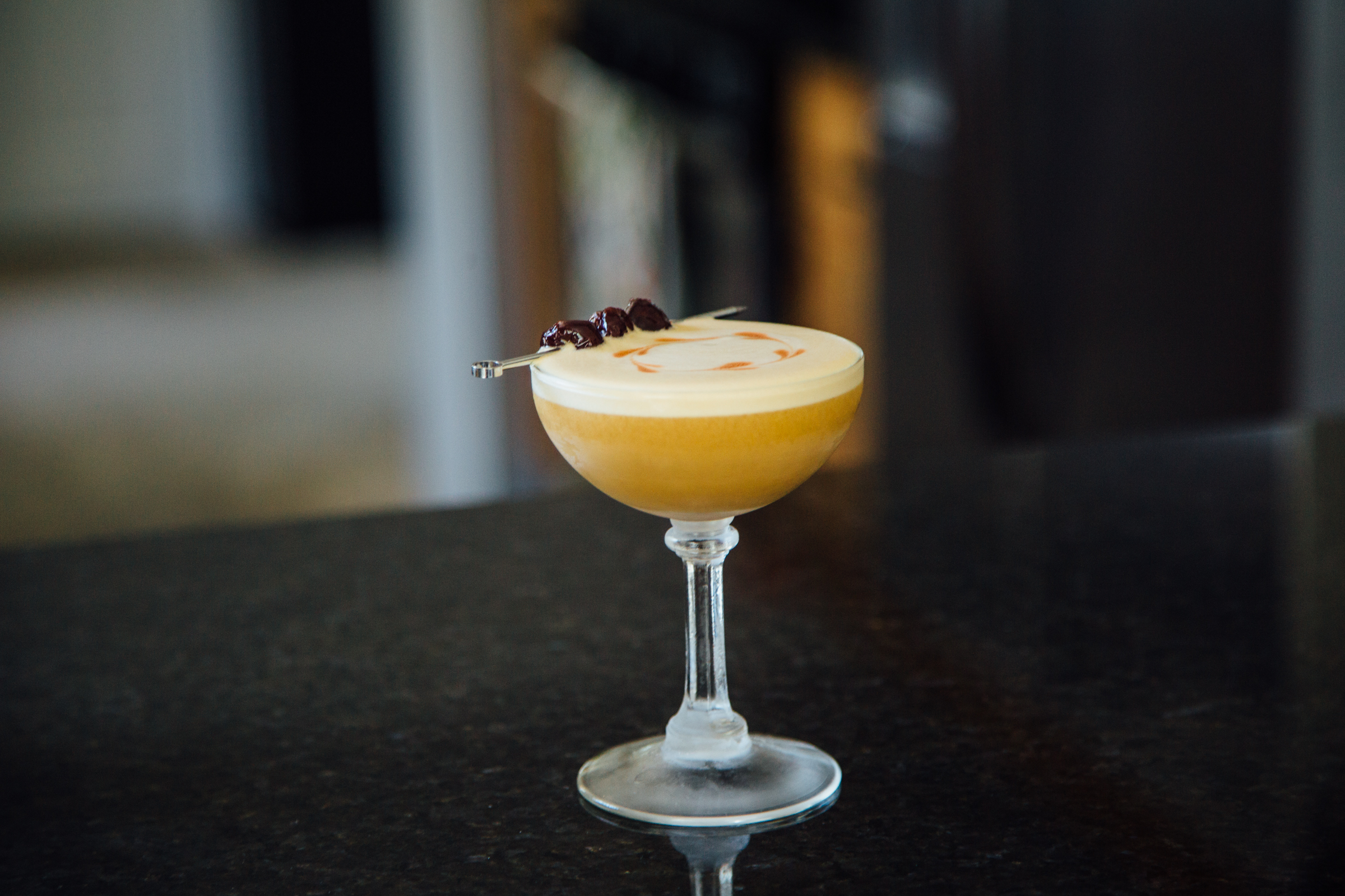 Unfinished Business coffee cocktail espresso whisky sour