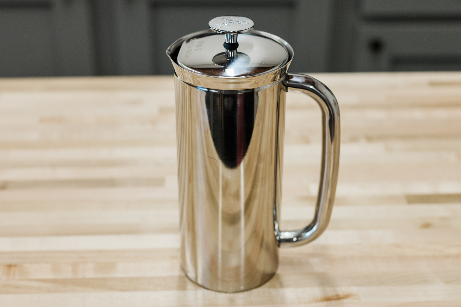 18 ounce double-walled stainless steel Espro Press.