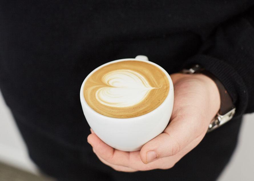 A heart design in latte art