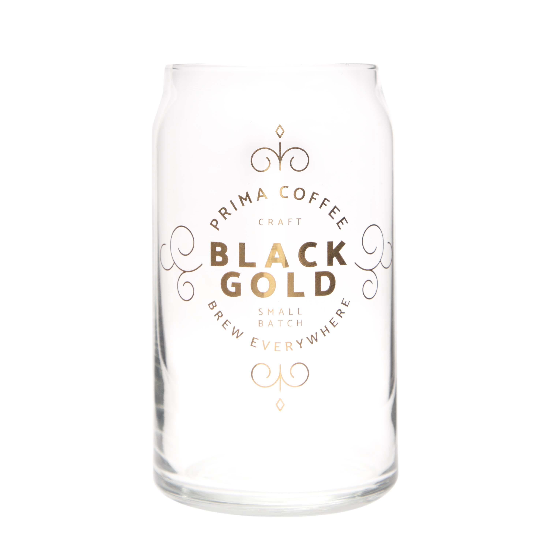 Prima Coffee Black Gold Glass