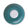teal hand painted saucer