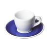 porcelain espresso cup and saucer blue