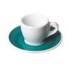 porcelain demitasse cup and saucer teal
