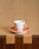 orange porcelain espresso cup