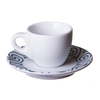 ancap verona espresso cup with millecolori evolution spirale saucer in teal