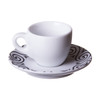 ancap italian porcelain demitasse cup with decorated saucer