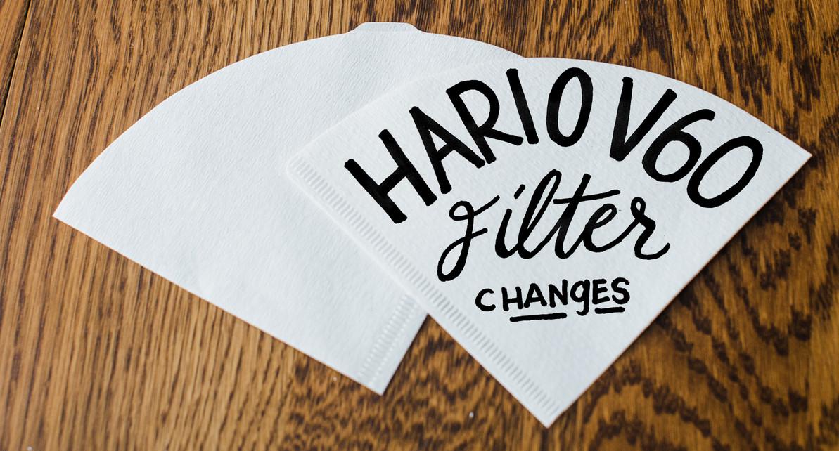 Hario V60 Filter Changes