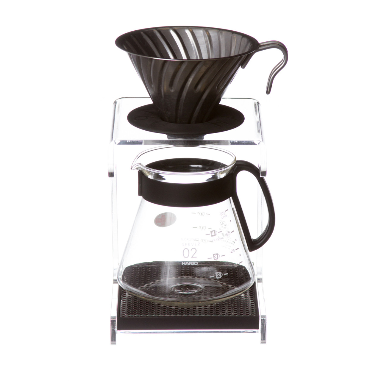 Hario V60 drip station with stainless steel v60