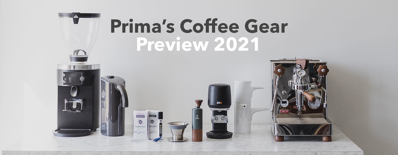 Several new coffee machines and equipment on a counter