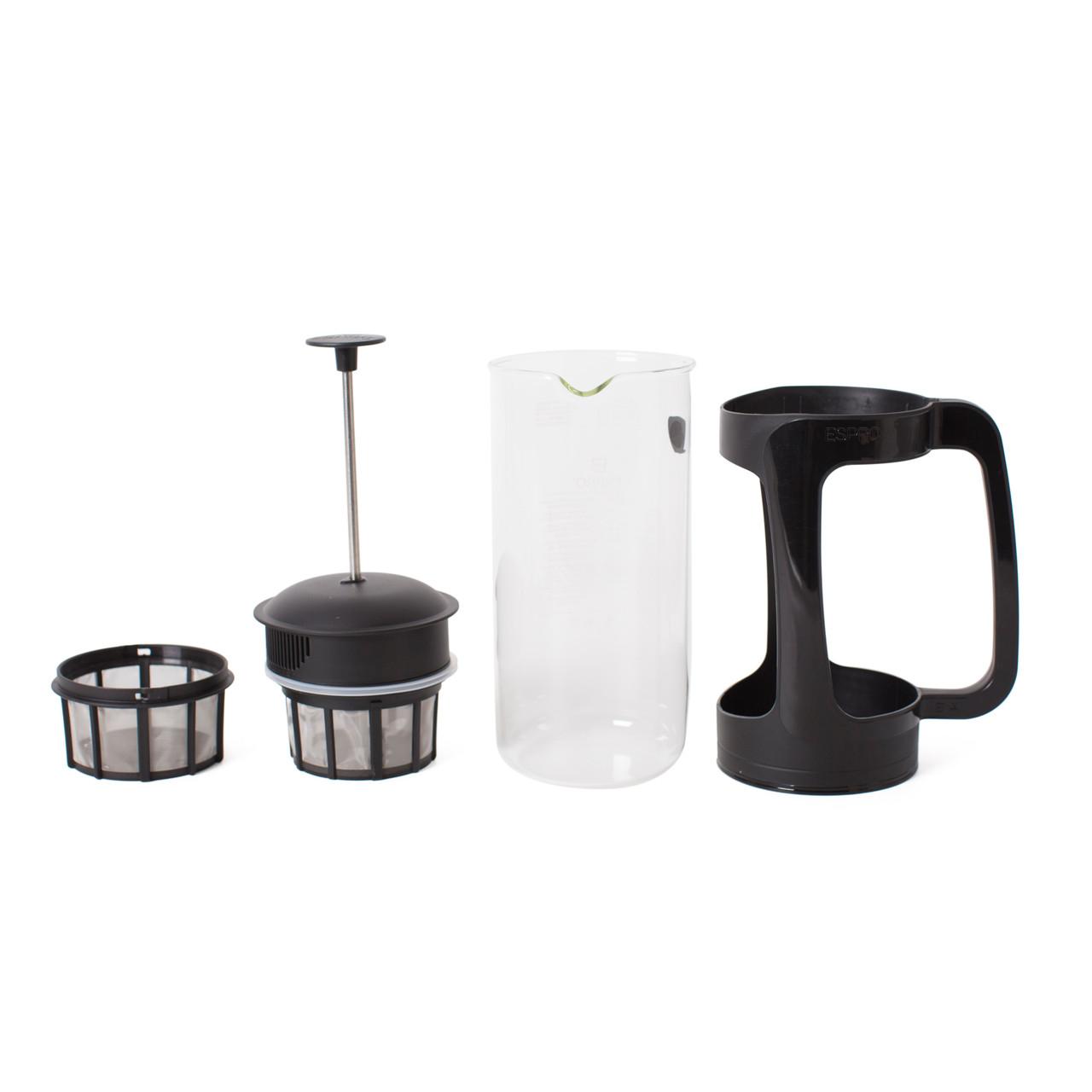 environ 907.17 g Espro 1432C-BK Coffee Press P3 verre et plastique noir 32 oz