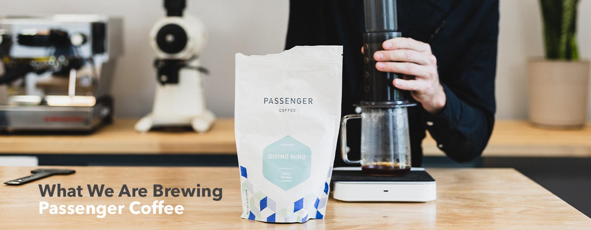 what we are brewing, passenger coffee, on aeropress, divino niño