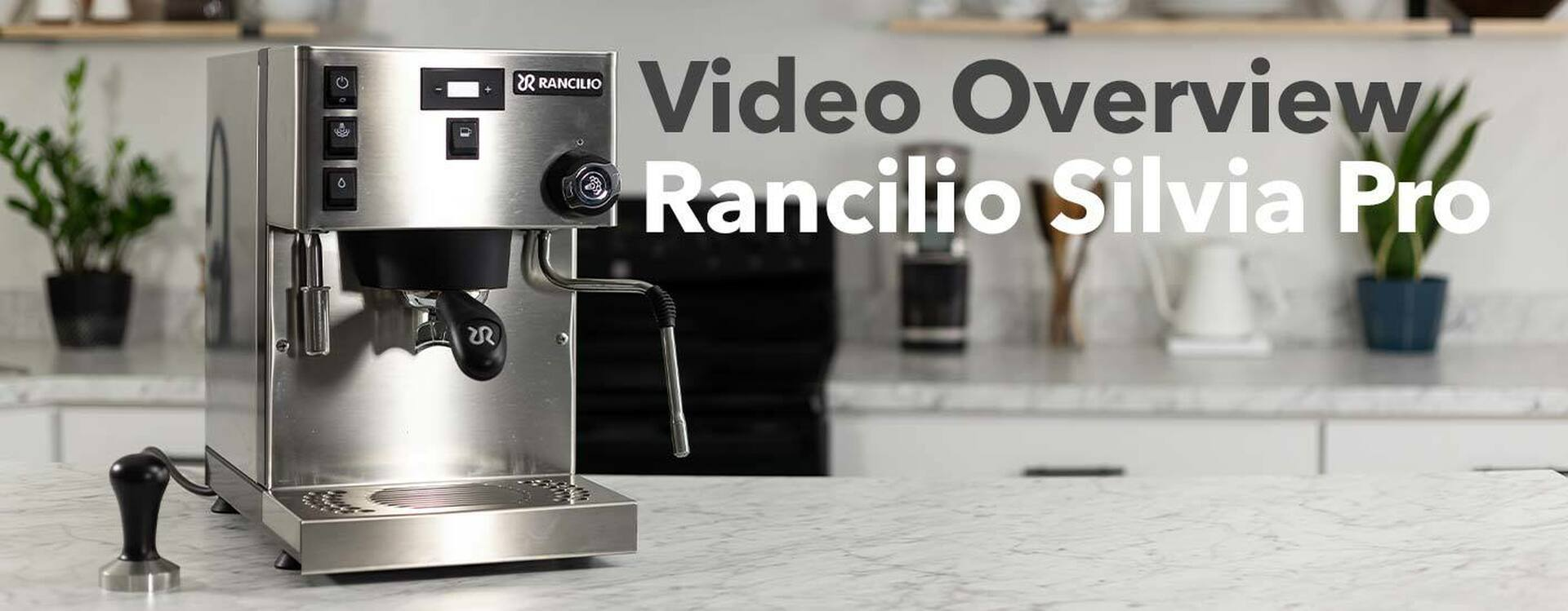 Rancilio Silvia Pro on counter