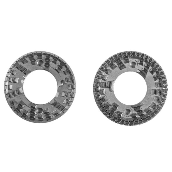 Top view of Ghost Tooth flat burrs for Apex manual grinder