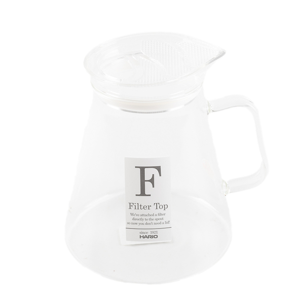 Side of Hario clear Tea Pot