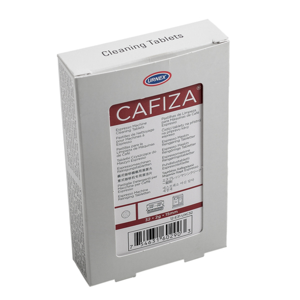 Side view of Urnex Cafiza Espreso Machine Cleaning Tablets packet