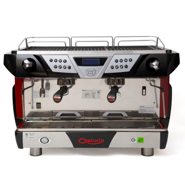 Front view of the Astoria Plus 4 You 2 group automatic espresso machine.