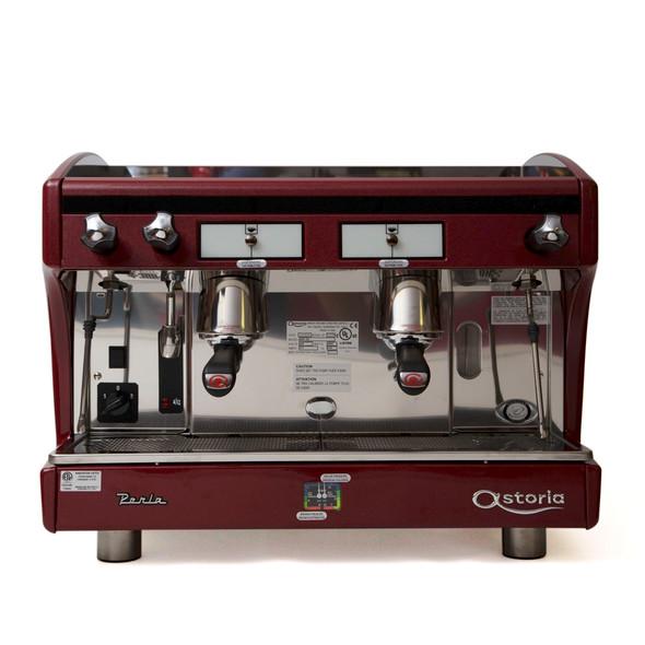 Astoria Perla A E P 2 group automatic espresso machine front view.