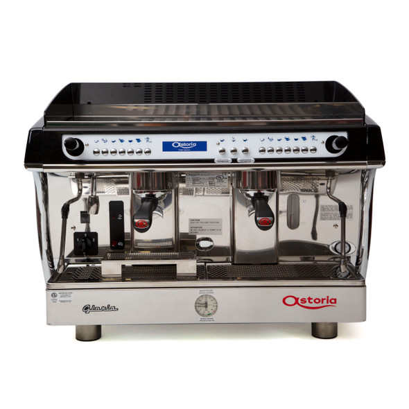 Astoria Gloria SAE 2 group automatic espresso machine front view.