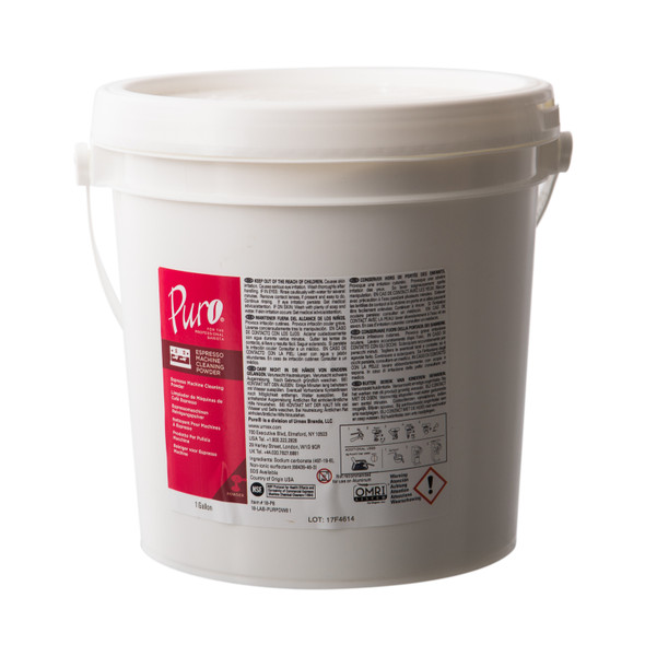 Puro Espresso Machine Cleaning Powder Bulk Pail.