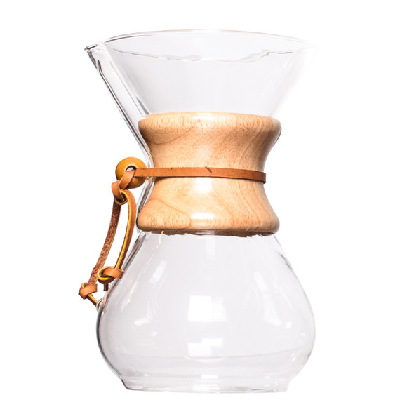 Chemex Classic Series Glass Coffeemaker, 6 cup capacity