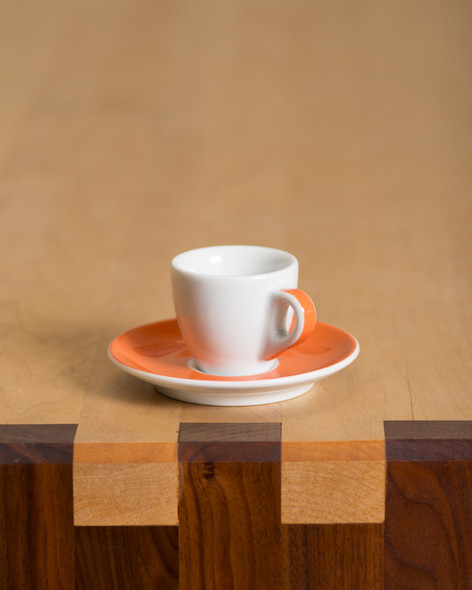 orange espresso cup porcelain