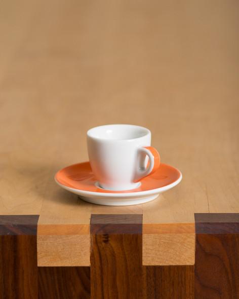 orange espresso cup porcelain