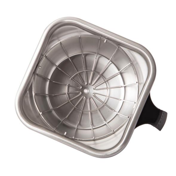 Fetco 13x5 Stainless Steel Brew Basket on side