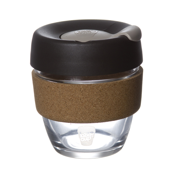 """KeepCup's """"Brew"""" Reusable Glass Cup in Limited Edition Cork"""