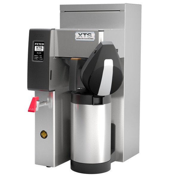 Fetco CBS-2131XTS - Extractor Brewing System - Single Station 3 Liter and 1 Gallon - Steel Brew Basket