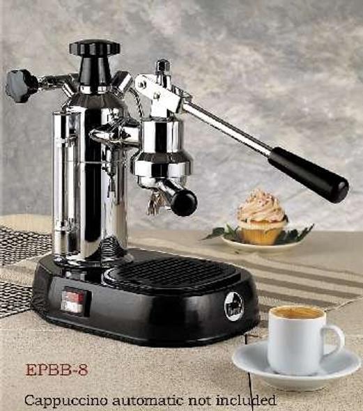 La Pavoni Europiccola Lever Espresso Machine, Chrome/Black, 8 cup capacity