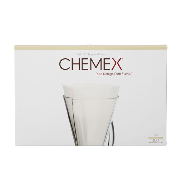 "Chemex Bonded 13"" Half-Moon Coffee Filters, 100 count"