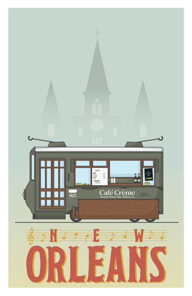 New Orleans Coffee Cities Fine Art Print