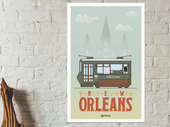 New Orleans Coffee City Poster