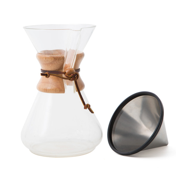 Chemex and Reusable Kone Stainless Steel Filter