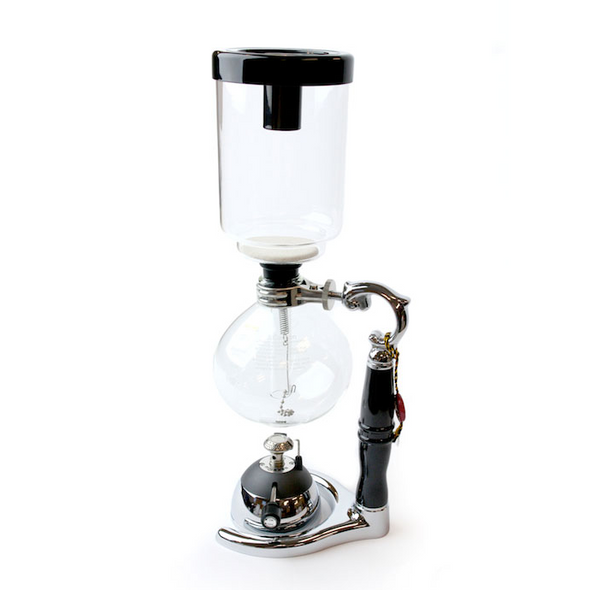 Coffee Siphon and Butane Burner Front