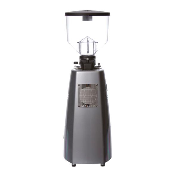 Mazzer Robur Electronic Espresso Grinder Silver Back